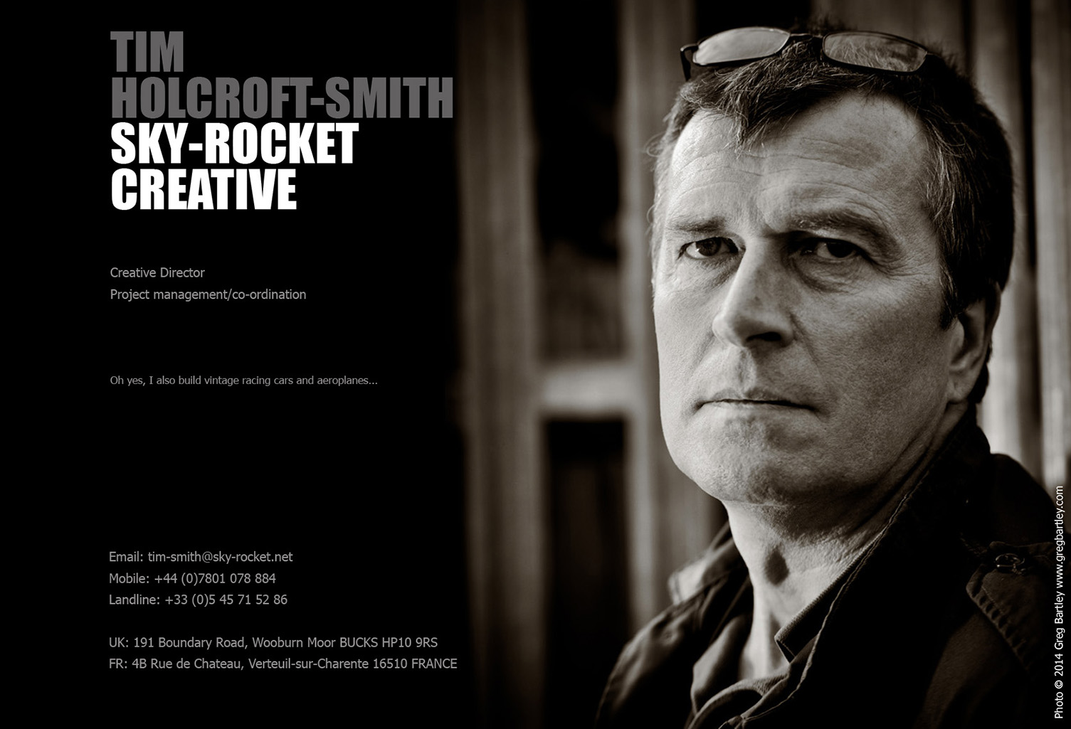 Tim Holcroft-Smith - Sky-Rocket Creative - Mobile: +44 (0)7801 678 884 - Landline: +33 (0)5 45 71 52 86